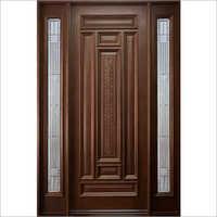 Brown Wooden Panel Door