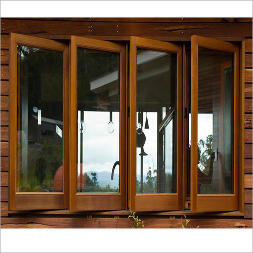 Polished Wooden Window Frame