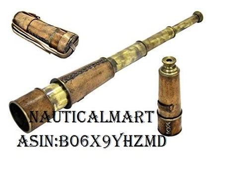 Brass Nautical Antique Telescope - 18 inches Long