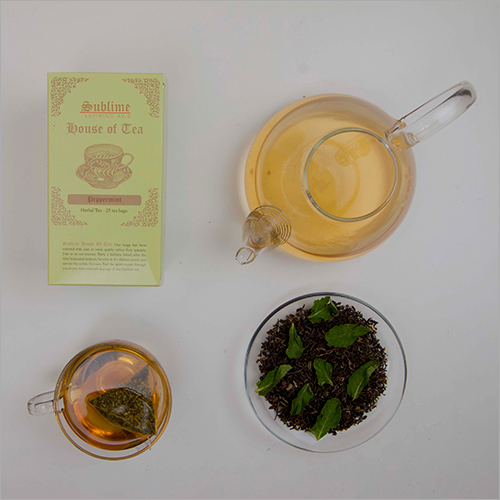 Fresh Peppermint Herbal Tea