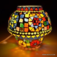 Small Size Glass Mosaic Table Lamp