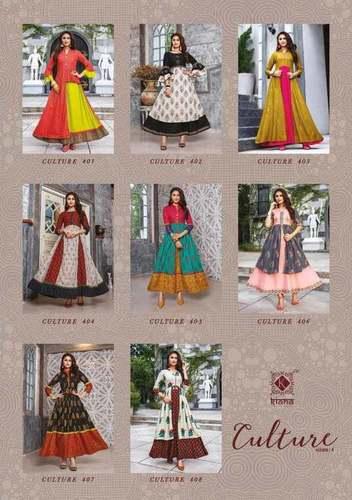 Cotton Handwork Anarkali Kurti