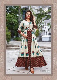 Cotton Handwork Anarkali Kurti