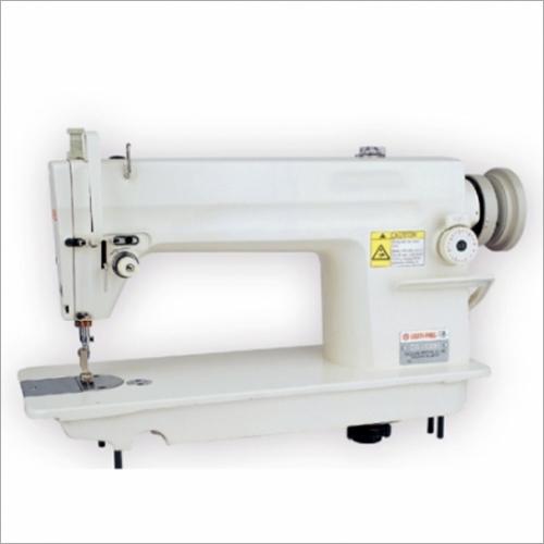 Single Needle Lock Stitch Flatbed Sewing Machine