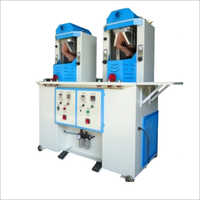 2 Stations Shoe Upper Crimping Machine With Hot And Cold