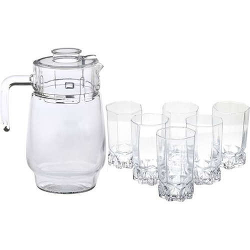 Jug, Glass & Tray Sets