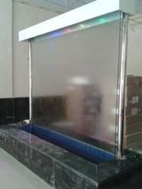 Water Curtain in Glass & wall