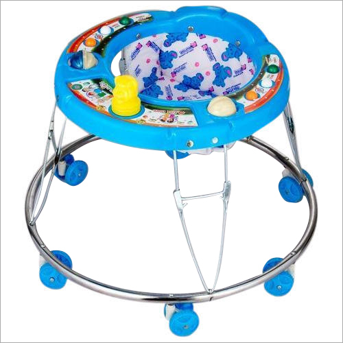 6 Wheeler Blue Color Baby Walker