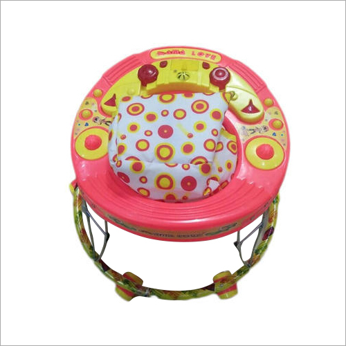 6 Wheeler Pink Color Baby Walker