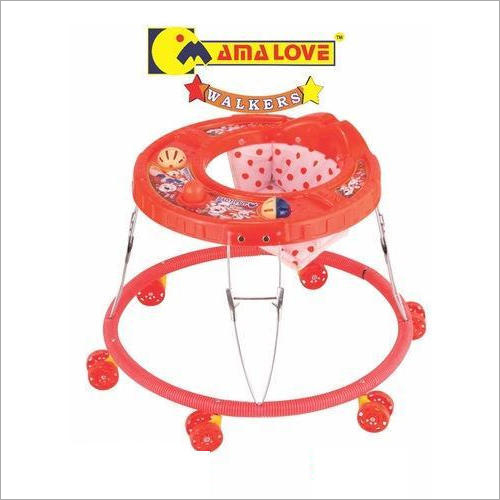 6 Wheeler Red Color Baby Girl Walker