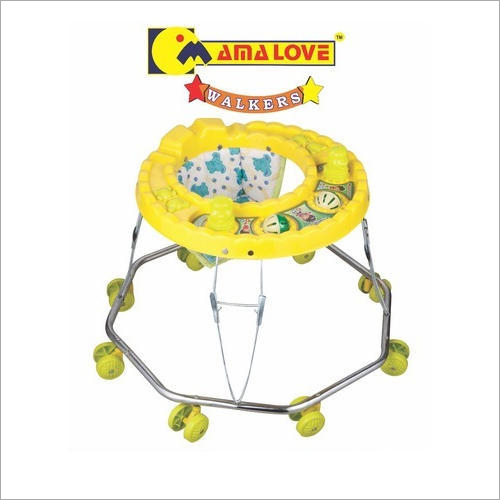 8 Wheeler Yellow Color Baby Walker