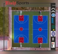 9 Layer Acrylic Basketball Court Systems