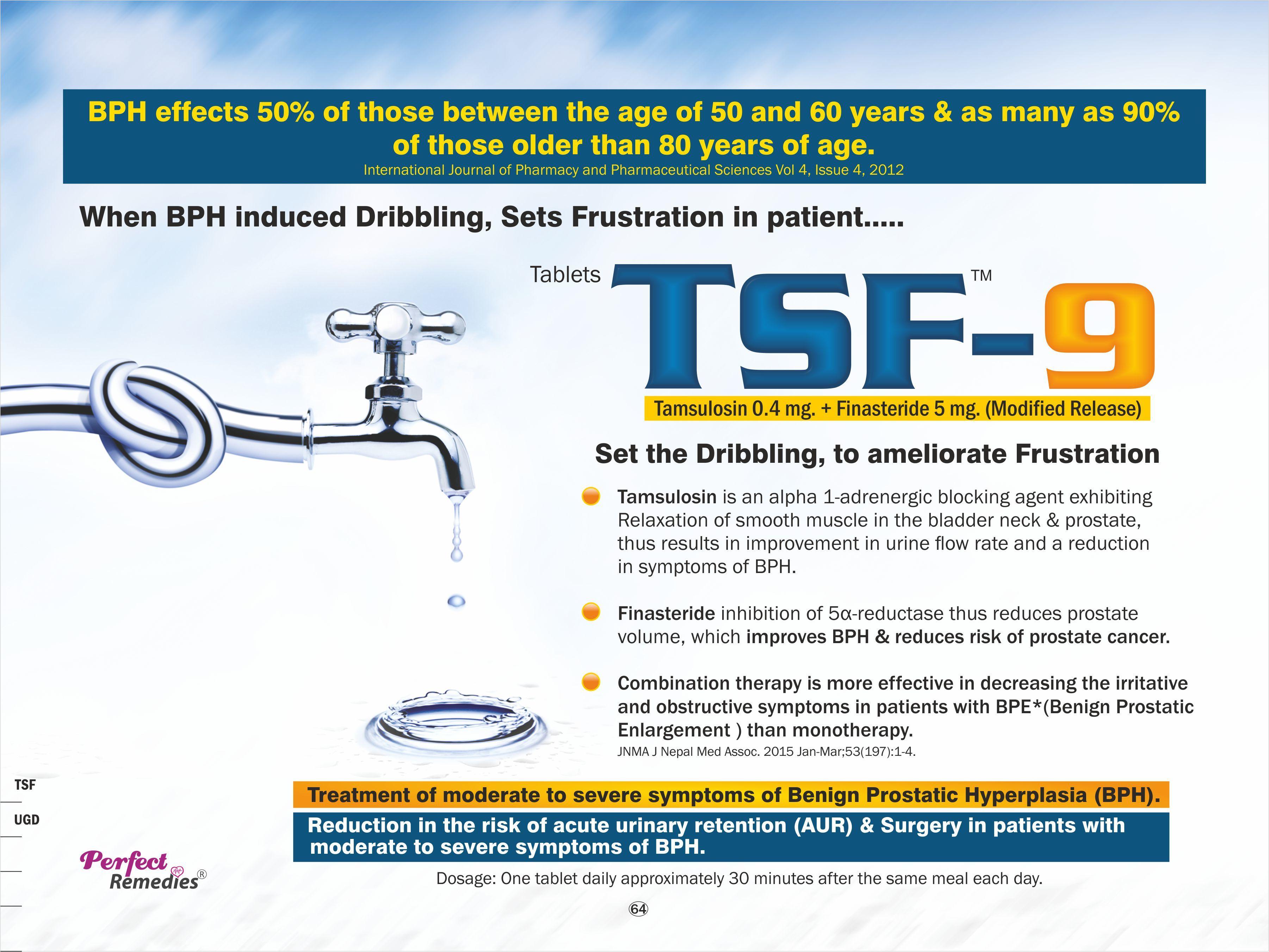Tamsulosin 0.4 mg with Finasteride 0.5 mg