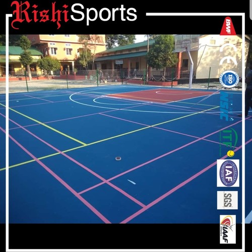 Synthetic basketball court floorings for academy