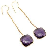 Amethyst Hydro Gemstone Earrings