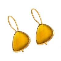 Yellow Chalcedony Gemstone Earrings