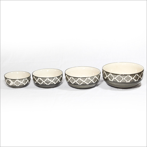 Ceramic Four Bowl Set