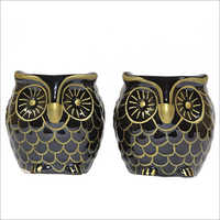 Gold Work Owl Planter
