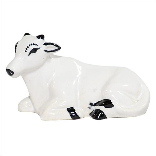 Ceramic Miniature Cow Statue