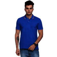 ARROW 100% COTTON COLLAR TIPPING ROYAL BLUE TSHIRT
