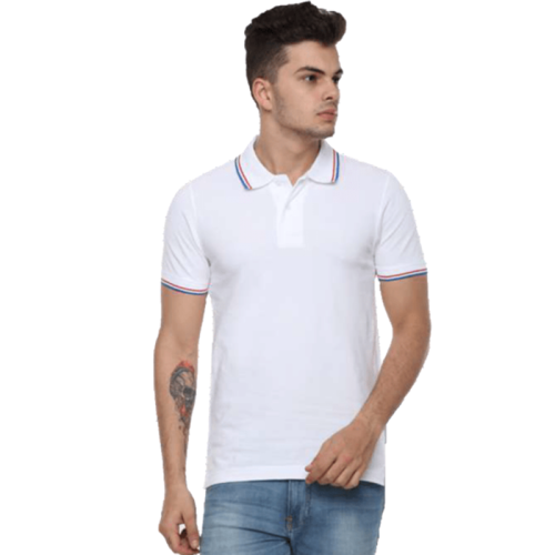 ARROW 100% COTTON COLLAR TIPPING WHITE TSHIRT