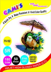 5X7 180 GSM inkjet photo paper manufacturers