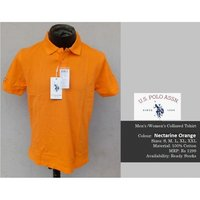 U. S. POLO NECTARINE ORANGE TSHIRT