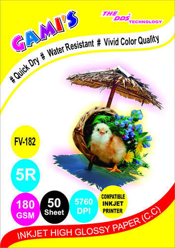 5X7 180 GSM inkjet photo paper price