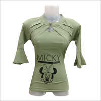 Ladies Micky Mouse Printed Top