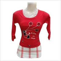 Ladies Full Sleeves Printed Top