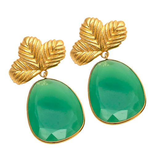 Green Onyx Gemstone Earrings