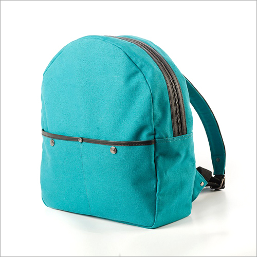 Waxed  Canvas Backpack in  Blue