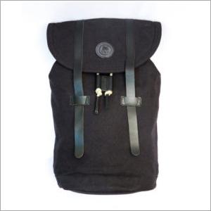 Leather Strap Canvas Bag