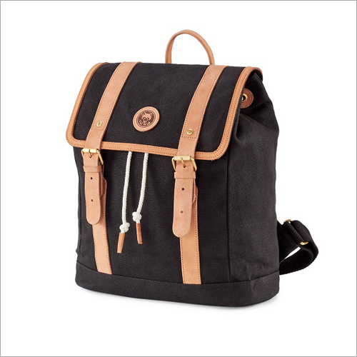 Leather Strap Designer Canvas Bag