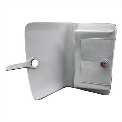 Ladies Grey Leather Wallet