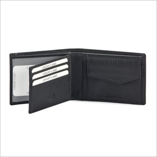 Mens Black Leather Wallet