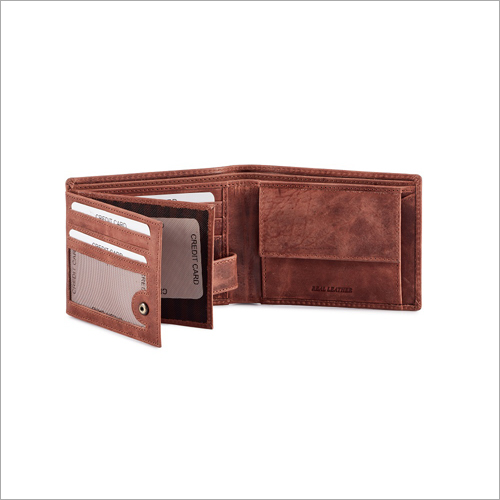 Mens Light Brown Leather Wallet
