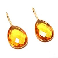 Citrine Hydro Gemstone earrings