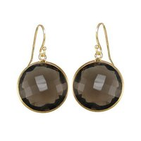 Smoky Topaz Hydro Gemstone Earrings