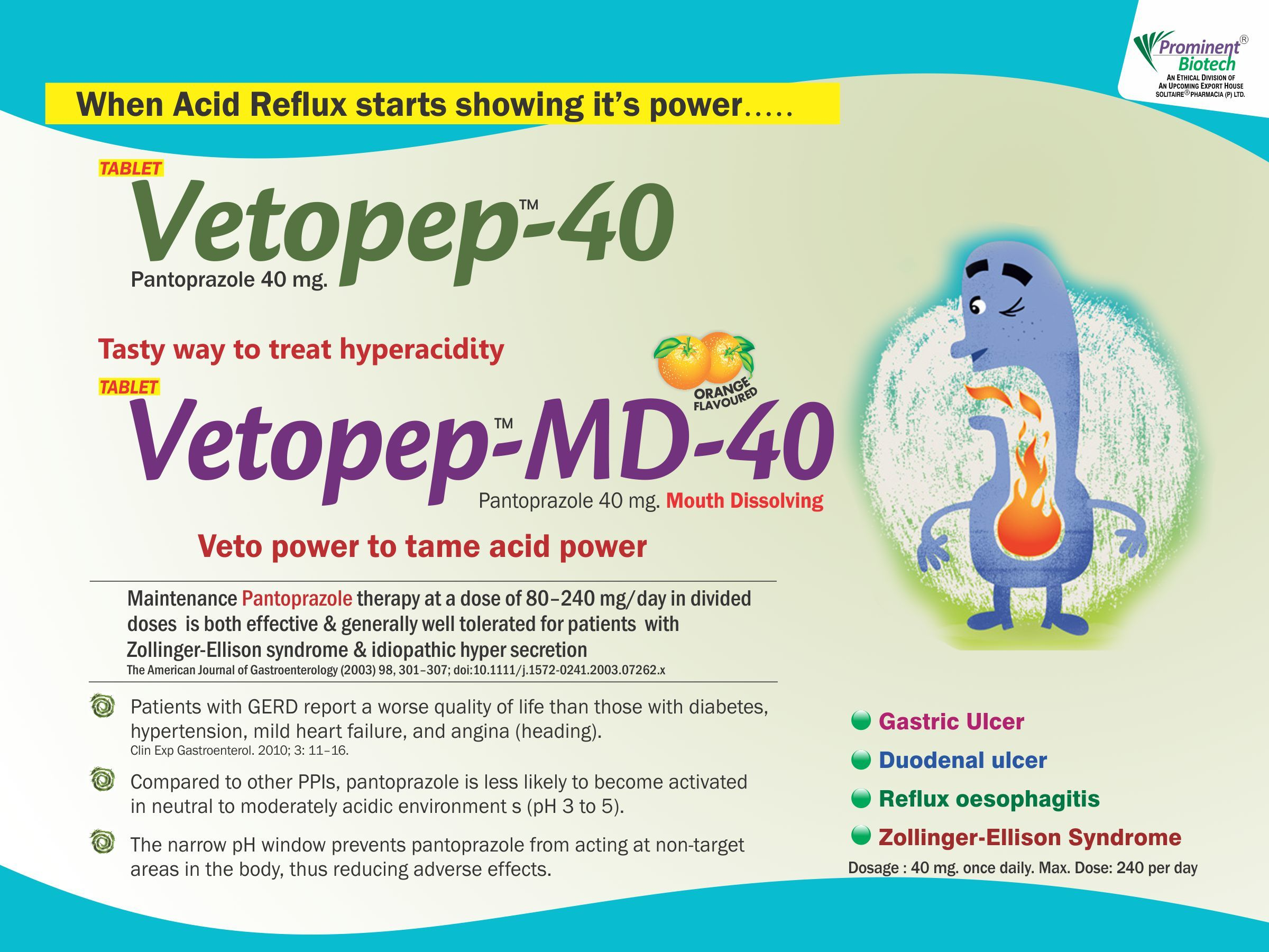 Pantoprazole 40 mg & 40 mg (Mouth Dissolving)