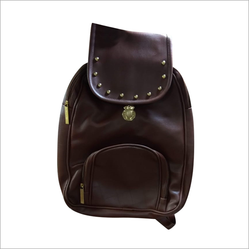 Ladies Brown Backpack Bag