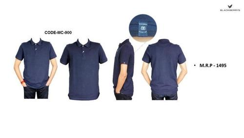 Blackberry Navy Blue Polo PC T Shirt with tip