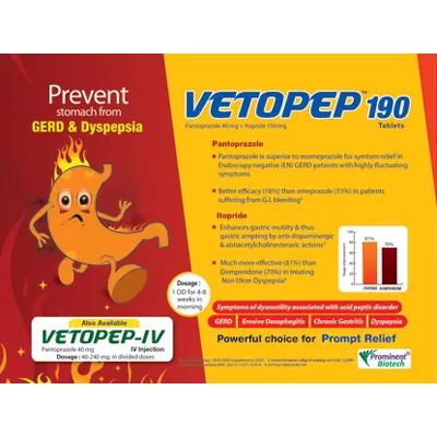 Pantoprazole 40 mg & Itopride 150 mg Tablet