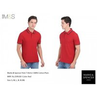 MARKS & SPENCER RED POLO T-SHIRT