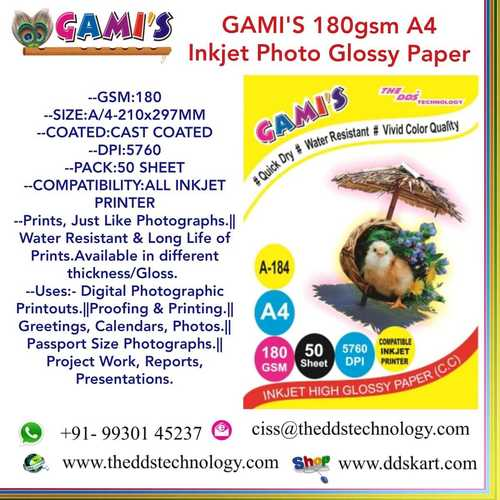 A4 180 GSM inkjet papers traders