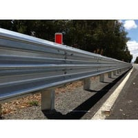 Galvanized W Beam Crash Barrier