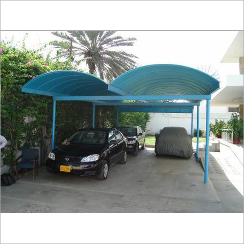 FRP Corrugated Car Shed