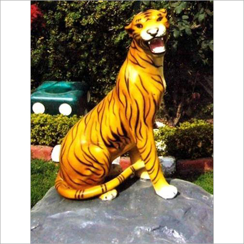 FRP Tiger On Stone