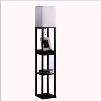 Black Floor Lamp, Floor Lamp With Shelf | Goodly Light-Gl-Flws004