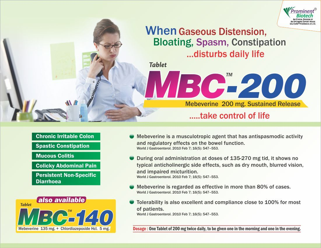 Mebeverine 200 mg (SR)